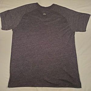 ALO Yoga Shirts - Alo Yoga Ragland Crew Neck T Charcoal heathered L